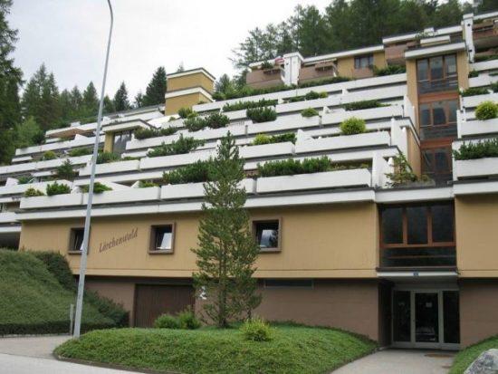 18- j-2.5 -Zimmer-Wohnung- Gebaude_Leukerbad- Ferienwohnung- zu -vermieten- Lärchenwald-1805